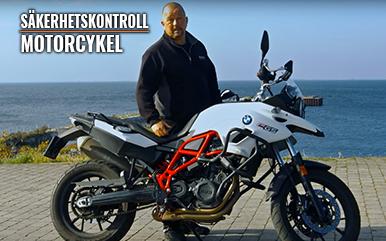 Säkerhetskontroll – Motorcykel